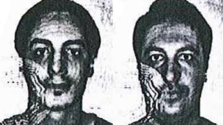 Photos of two men suspected of assisting one of the Paris attackers