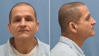 William Carini seen head-on and in profile, in photos from Illinois department of corrections.