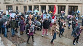 Children's centre protests
