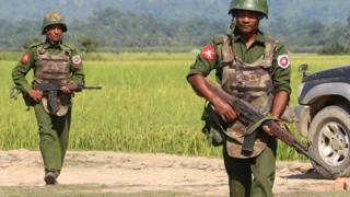 ရခိုင်ပြည်မြောက်ပိုင်းမှာ တာဝန်ကျနေတဲ့ စစ်သည်တချို့