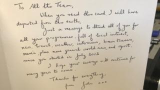Card from John