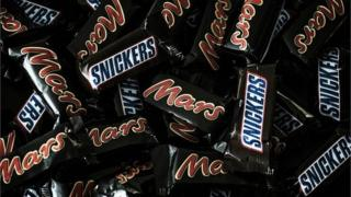 Mars and Snickers chocolate bars