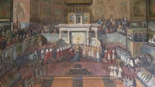 Louis XIV coronation painting