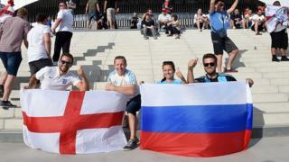 болельщики Англии и России на ЧЕ-2016