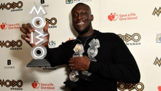 Stormzy at the Mobos