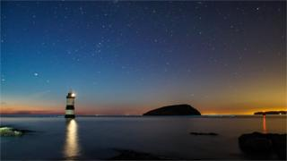 Midsummer night's dream: Jonathan Demery captured this beautiful starry night at Penmon in Anglesey