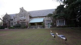 A view of the Playboy Mansion in this January 11, 2007, file photo in Beverly Hills.