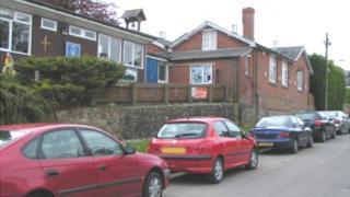 Cars outside a school in Sheffield