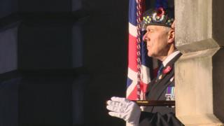 Veteran at the service in Edinburgh