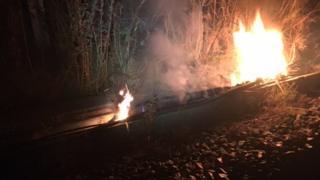 Railway fire