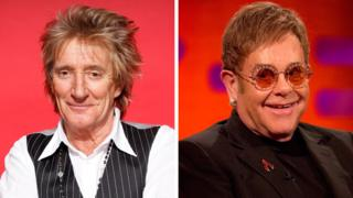 Rod Stewart and Sir Elton John
