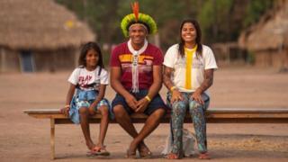 Família do cacique Giliarde Juruna