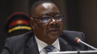 Le président du Malawi Peter Mutharika s'exprimant le 18 septembre 2016 à New York.