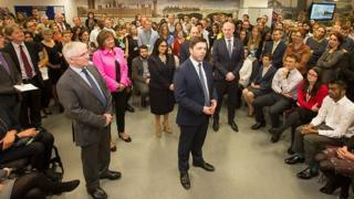 New Work and Pensions Secretary Stephen Crabb speaks to DWP ministers and staff.