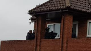 Armed police in Barry
