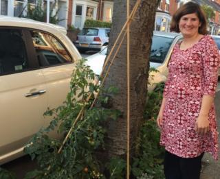 Zoe Smith with garden