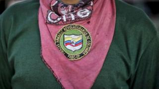 Pañuelo de un miembro de las FARC.