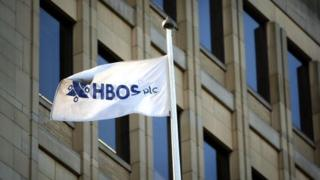 Flag displaying the old HBOS logo