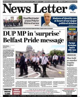 front page Monday