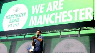 Andy Burnham, pictured speaking at the arena reopening concert in September