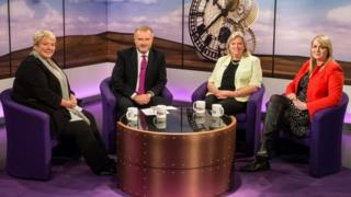Sunday Politics studio and guests
