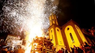 Рождество в Зенице в Боснии и Герцеговине