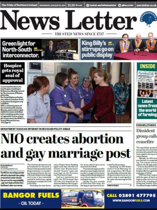 News Letter front page Wednesday 24 January 2018