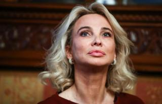 Corinna zu Sayn-Wittgenstein ahead of a ceremony held at the Italian Embassy in Moscow in 2019