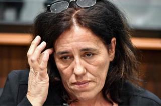 Rosa Maria Da Cruz pictured during her trial at the Assize Court in Tulle, central France