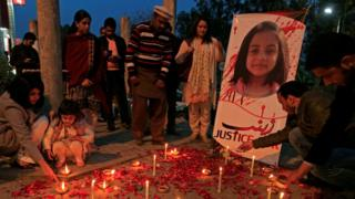 A candlelight vigil for Zainab in Islamabad