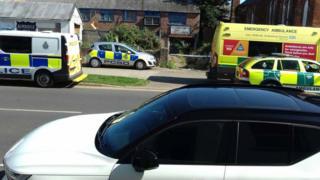 Emergency service vehicles in Skegness