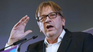 former Belgian Prime Minister Guy Verhofstadt, 2014 pic
