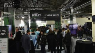 Start-up alley Tech Crunch