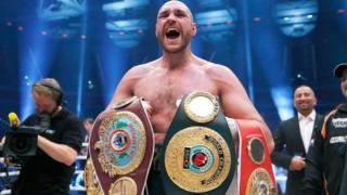 Fury baada ya kumchapa Wladimir Klitschko mwaka 2015