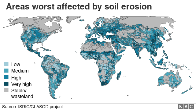 Climate change being fuelled by soil damage - report