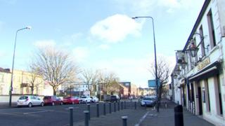 Regent Street in Newtownards, where the attack happened
