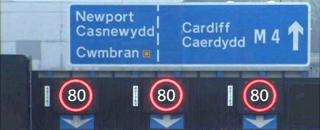 How speed restriction signs could look on the M4