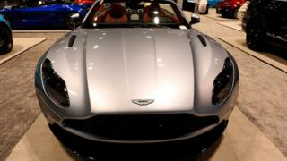 The Aston Martin DB11 on display at the Annual Chicago Auto Show in February