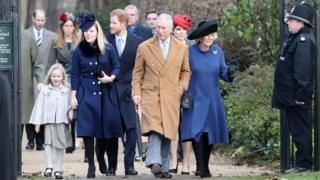 Members of the Royal Family arrived at church without the Queen