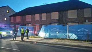 Car crashed at building site