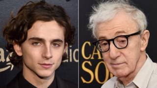 Timothee Chalamet and Woody Allen