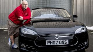 Chris Clarkson and his Tesla