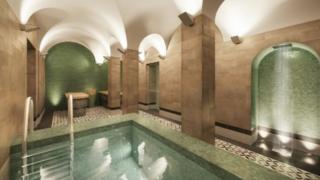 Artist's impression of Turkish baths