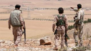 Mayakan kungiyar 'yan tawaye Majalisar Sojin Manbij a lardin Aleppo