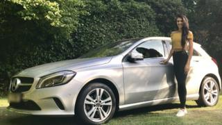 Francesca Brady with her Mercedes A Class