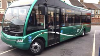 Stagecoach electric bus on trial in Caerphilly county