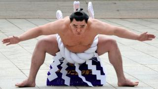 Sumo grand champion Harumafuji