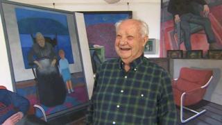 Artist Charles Burton's milestone Cardiff show and book at 90