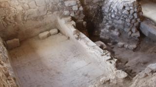 Crusader winery discovered in Mi'ilya, northern Israel, August 2019