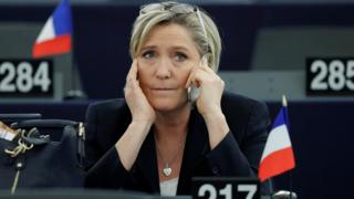 Marine Le Pen in European Parliament, 17 Jan 17